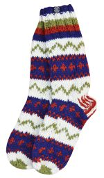 hand knit socks - Pattern Assorted