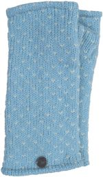 Fleece lined wristwarmer - tick  -Pale blue