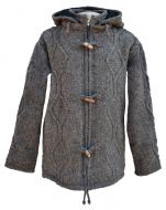Detachable hood - simple cable toggle jacket - brown