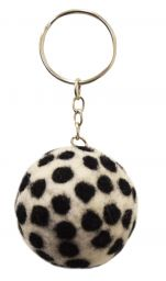 Dotty Keyring- White/Black
