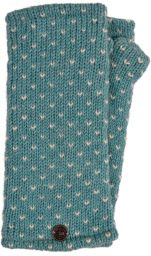Fleece lined wristwarmer - tick - Eau de nil