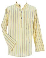Light weight - Striped Cotton Shirt - Yellow