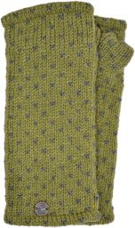 Fleece lined wristwarmer - tick - Green/grey