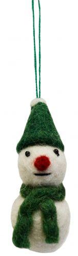 Felt - Christmas Decoration - Snowman - Green