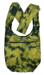 Tie dye beach bag - long handle - green
