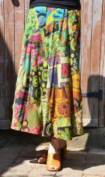 Jaipuri - Patchwork Skirt - Green 2