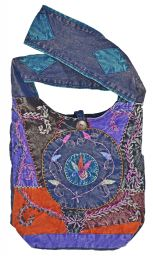 Stonewashed - Swirl Embroidered - Bag - blue