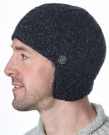 Half fleece lined - helmet hat - Charcoal
