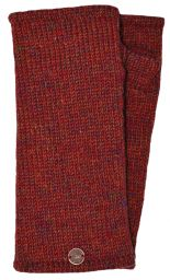 Fleece lined - Wristwarmers - heather mix -  Rust