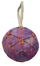 Felt - Beaded - Christmas Bauble - Purple