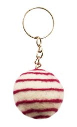 Spiral Keyring - White/Red