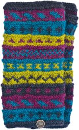 NAYA - hand knit - pattern - wristwarmer - Jewels