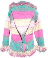 pixie hooded - fringed snowflake jacket - Ice
