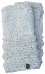 Pure Wool - Lace Ridge Wristwarmer - White