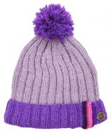pure wool - bobble turn up with tape - lilac/purple