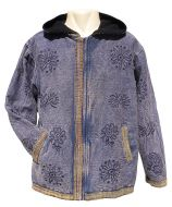 Stonewashed  - Printed  - Border Jacket - Blue