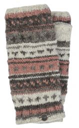 NAYA - hand knit - pattern - wristwarmer - brown/blush