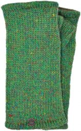 Fleece lined - Wristwarmers - heather mix -  Green