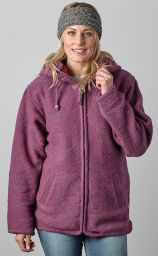 Fleece lined - detachable hood - heather - Pink