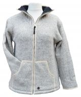 Fleece lined - pure wool jacket - Light Grey