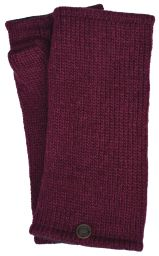 Fleece lined wristwarmer - Plain - Deep Berry