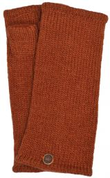 Fleece lined wristwarmer - Plain - Dark Spice