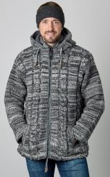 ultrawarm - detachable hood - cable jacket - Grey