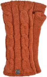 Fleece lined wristwarmer - cable - Apricot
