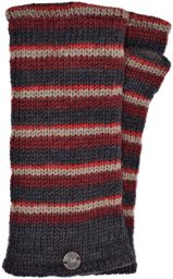 Fleece lined - Random Stripe - Wristwarmer  - Browns