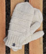 Fleece lined mittens - Ridge - Cream