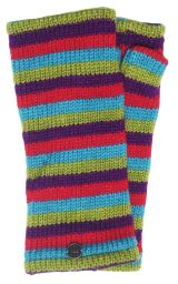Fleece lined wristwarmer - stripe - Bright