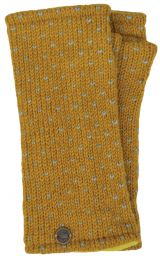 Fleece lined wristwarmer - tick - Mustard