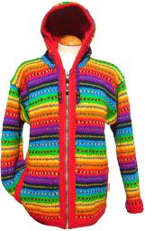 Fleece lined - hooded jacket - Rainbow tick