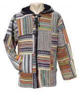 Gheri patchwork hooded jacket - multi coloured