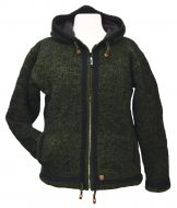 double border - hooded jacket - Nettle