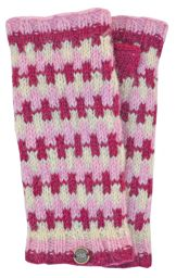 NAYA - Fleece lined wristwarmers - geometric - pinks