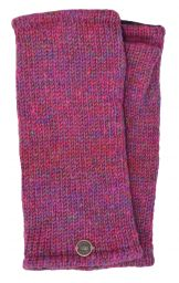 Fleece lined - Wristwarmers - heather mix -  pink