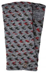 Fleece lined wristwarmer - wings - grey/red/green