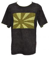 Stonewashed Cotton T-Shirt - Black