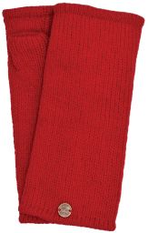Fleece lined wristwarmer - Plain - Red