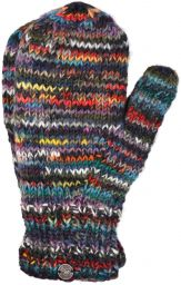 Fleece lined mittens - Electric - Grey