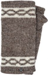 Classic - twist - wristwarmer - marl brown