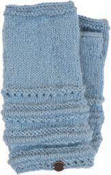 Pure Wool - Lace Ridge Wristwarmer - Dusk Blue