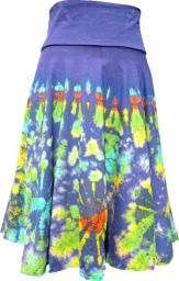 ***SALE*** - Tie dye Midi Skirt - Blue