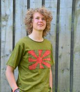 Stonewashed Cotton - T Shirt - Green