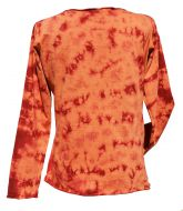 Tie Dye - Anytime - long sleeve top - Spice