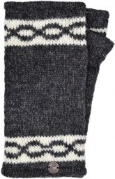 Classic - twist - wristwarmer - charcoal
