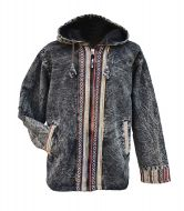 Gheri border edge jacket - Black/Multi coloured