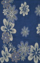 Floral - Blanket/shawl - Blue