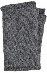 Children's Fleece Lined plain Wristwarmers - Grey